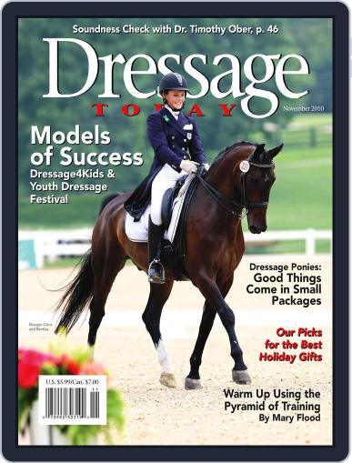 Dressage Today (Digital) October 15th, 2010 Issue Cover