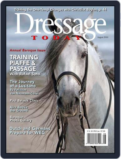 Dressage Today July 15th, 2010 Digital Back Issue Cover