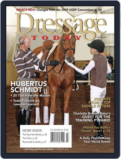 Dressage Today February 9th, 2010 Digital Back Issue Cover