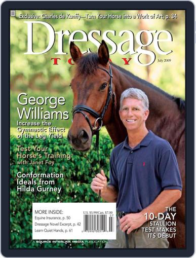 Dressage Today (Digital) June 23rd, 2009 Issue Cover