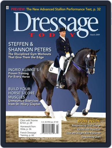 Dressage Today February 24th, 2009 Digital Back Issue Cover