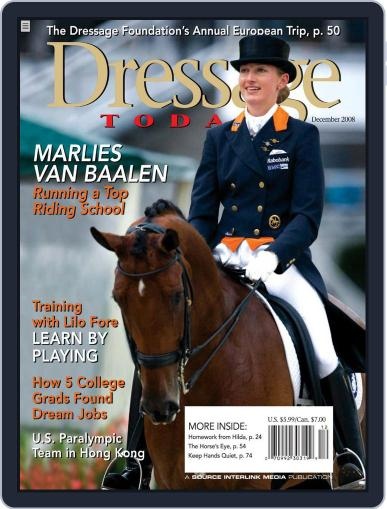 Dressage Today (Digital) November 25th, 2008 Issue Cover