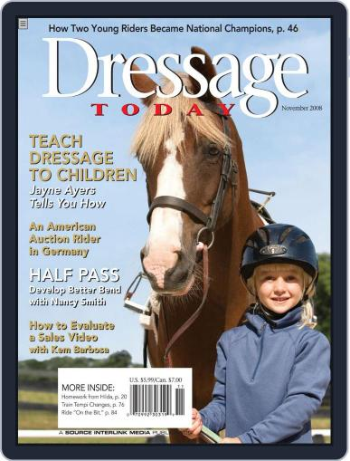 Dressage Today (Digital) October 28th, 2008 Issue Cover