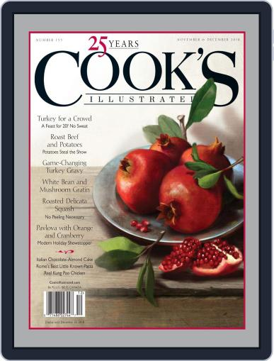 Cook's Illustrated (Digital) November 1st, 2018 Issue Cover