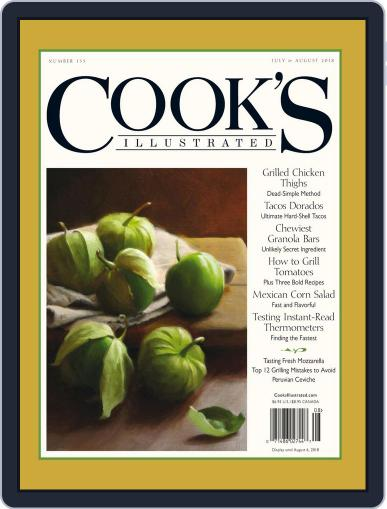 Cook's Illustrated July 1st, 2018 Digital Back Issue Cover