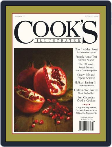 Cook's Illustrated October 13th, 2014 Digital Back Issue Cover