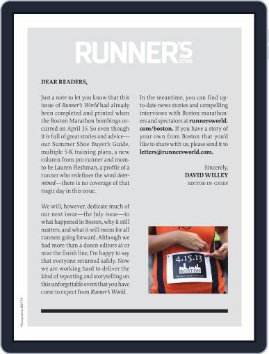 Runner's World (Digital) June 1st, 2013 Issue Cover