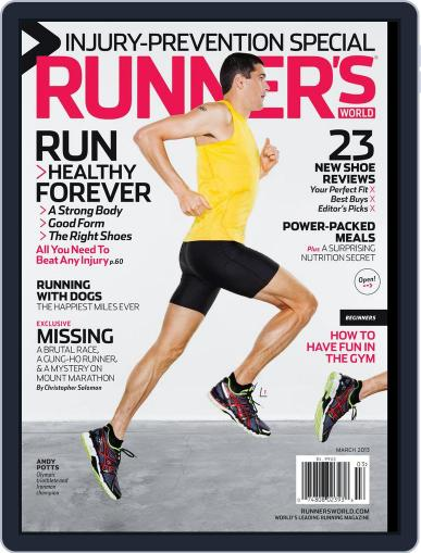 Runner's World March 1st, 2013 Digital Back Issue Cover