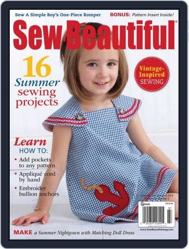 Sew Beautiful (Digital) April 25th, 2014 Issue Cover