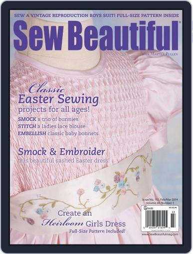 Sew Beautiful (Digital) December 31st, 2013 Issue Cover