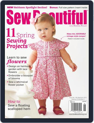 Sew Beautiful (Digital) April 30th, 2013 Issue Cover