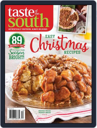 Taste of the South December 2nd, 2016 Digital Back Issue Cover