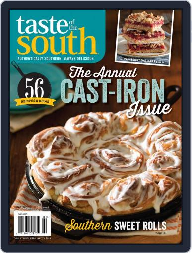 Taste of the South January 2nd, 2016 Digital Back Issue Cover