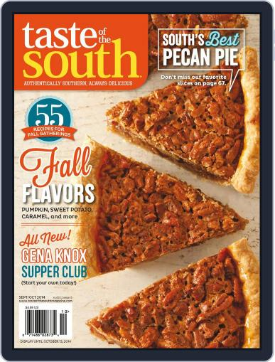 Taste of the South (Digital) October 13th, 2014 Issue Cover