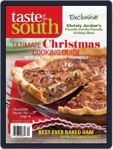 Taste of the South (Digital) November 1st, 2012 Issue Cover