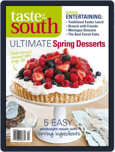Taste of the South March 1st, 2012 Digital Back Issue Cover