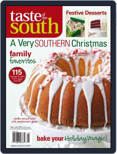 Taste of the South (Digital) December 1st, 2011 Issue Cover