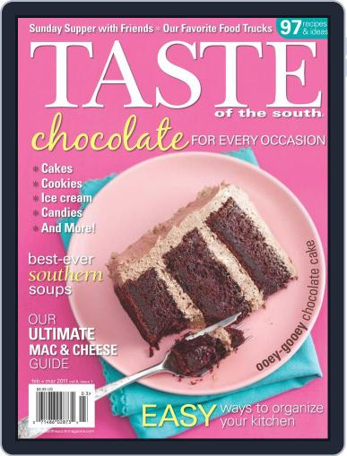 Taste of the South February 1st, 2011 Digital Back Issue Cover