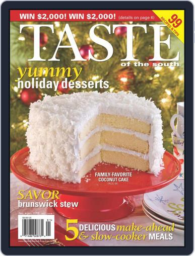 Taste of the South (Digital) December 1st, 2009 Issue Cover