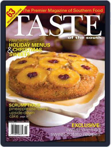 Taste of the South (Digital) October 1st, 2008 Issue Cover