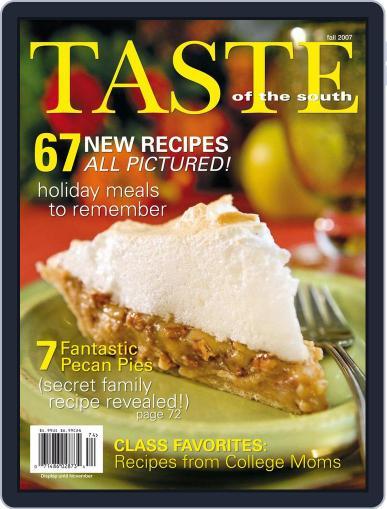Taste of the South September 1st, 2007 Digital Back Issue Cover