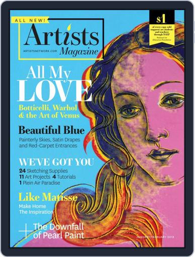 Artists (Digital) January 1st, 2018 Issue Cover