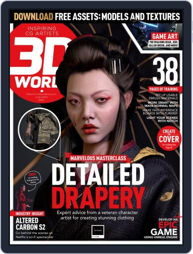 3D World June 1st, 2020 Digital Back Issue Cover