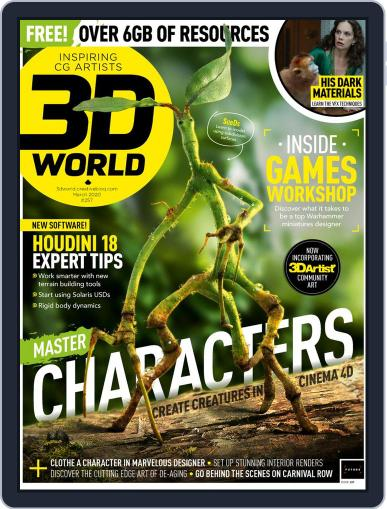 3D World March 1st, 2020 Digital Back Issue Cover