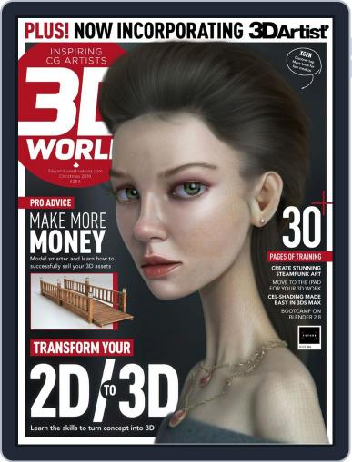 3D World October 30th, 2019 Digital Back Issue Cover