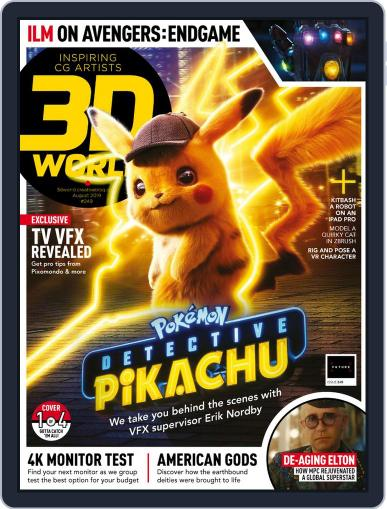 3D World August 1st, 2019 Digital Back Issue Cover