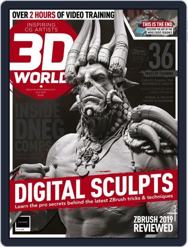 3D World July 1st, 2019 Digital Back Issue Cover