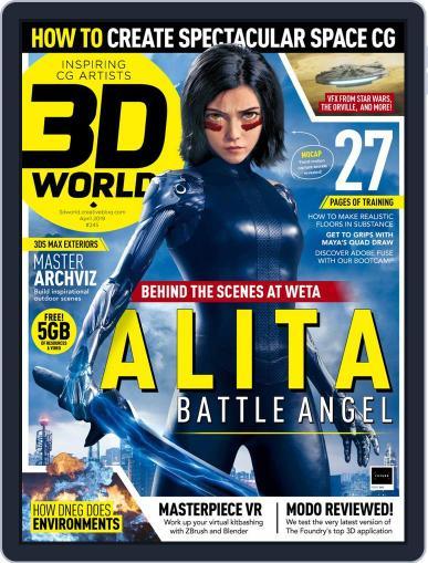 3D World April 1st, 2019 Digital Back Issue Cover
