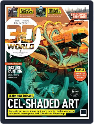 3D World March 1st, 2019 Digital Back Issue Cover