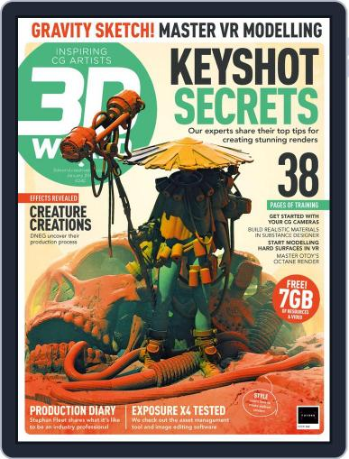 3D World January 1st, 2019 Digital Back Issue Cover