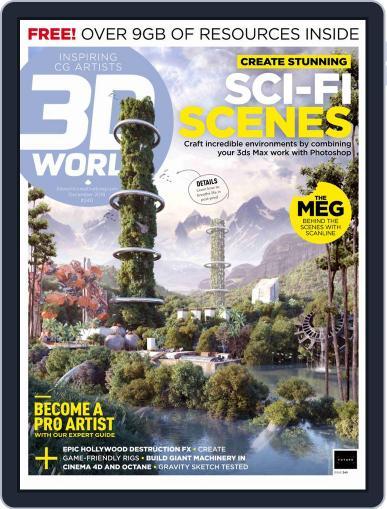 3D World December 1st, 2018 Digital Back Issue Cover