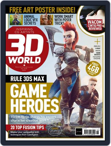 3D World (Digital) May 1st, 2018 Issue Cover