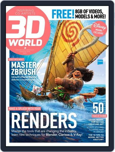 3D World October 1st, 2016 Digital Back Issue Cover