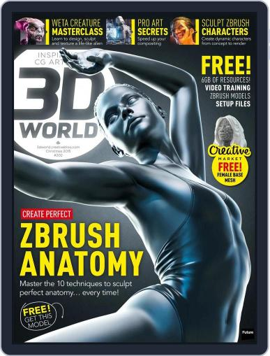 3D World November 3rd, 2015 Digital Back Issue Cover