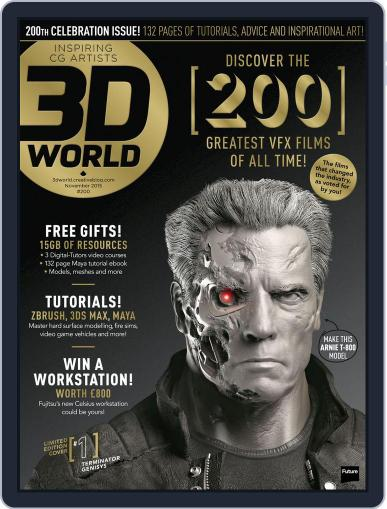 3D World October 24th, 2015 Digital Back Issue Cover