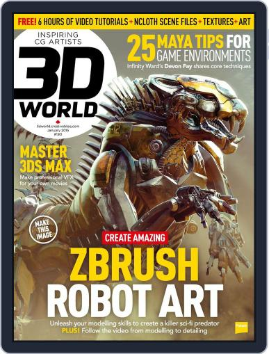 3D World December 1st, 2014 Digital Back Issue Cover