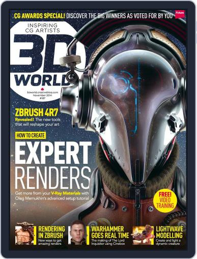3D World September 8th, 2014 Digital Back Issue Cover