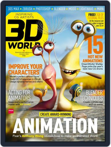 3D World August 11th, 2014 Digital Back Issue Cover