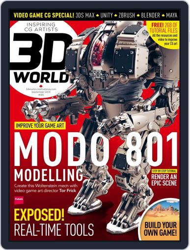 3D World July 14th, 2014 Digital Back Issue Cover