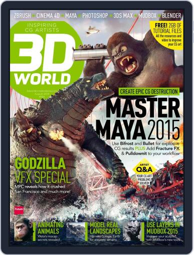 3D World June 16th, 2014 Digital Back Issue Cover