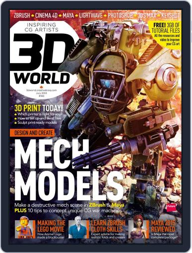 3D World May 19th, 2014 Digital Back Issue Cover