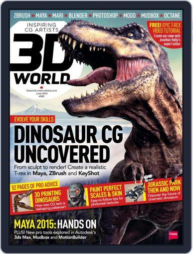 3D World April 21st, 2014 Digital Back Issue Cover