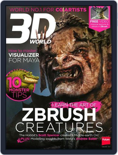 3D World December 30th, 2013 Digital Back Issue Cover