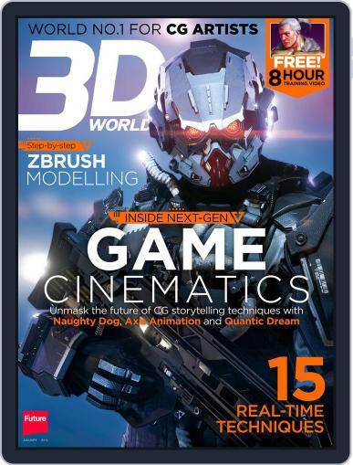 3D World December 2nd, 2013 Digital Back Issue Cover