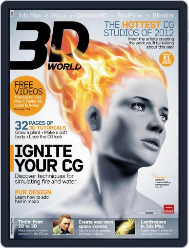 3D World January 2nd, 2012 Digital Back Issue Cover