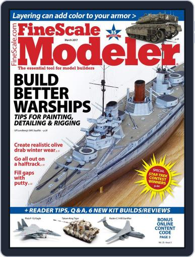 FineScale Modeler March 1st, 2017 Digital Back Issue Cover